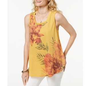 Style & Co Tops - STYLE & CO Floral-Print Swing Tank Top
